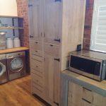 white oak pantry unit